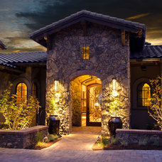 Mediterranean Entry by Homeland Design, llc