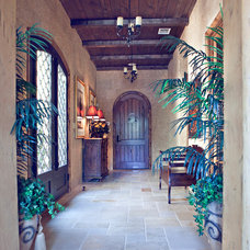Mediterranean Entry by Karyn Dismore Interiors