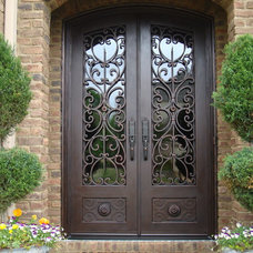 mediterranean front doors by Tuscan Iron Entries