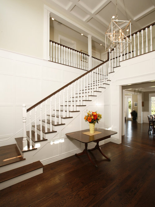 Two story foyer houzz for Foyer traditional decorating ideas