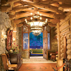 Rustic Entry by Gunson Custom Mountain Architects