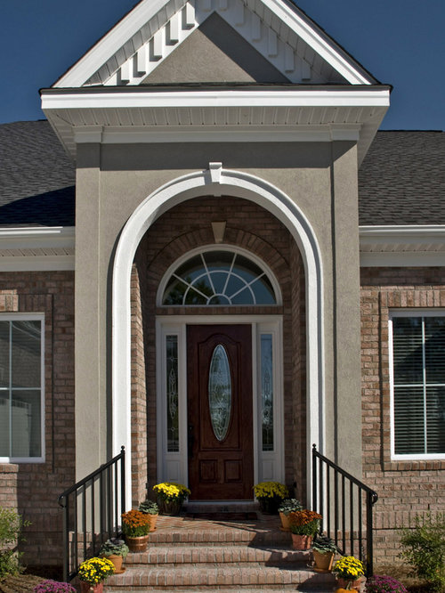 brick and stucco facade photos - Stucco Design Ideas