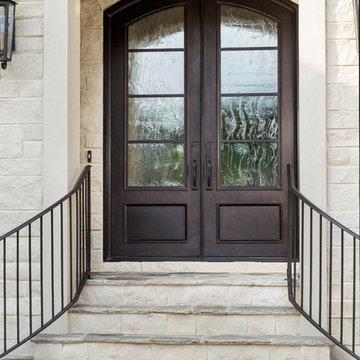Understated Double Iron Doors
