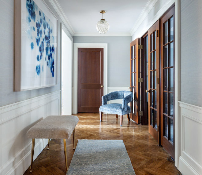 Transitional Entry by Jamie Nesbitt-Weber Interior Design