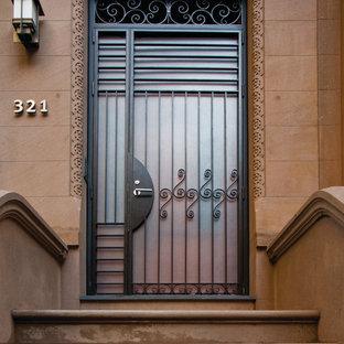 Moderne Haustür mit Einzeltür in New York