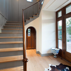 traditional entry by Tim Cuppett Architects