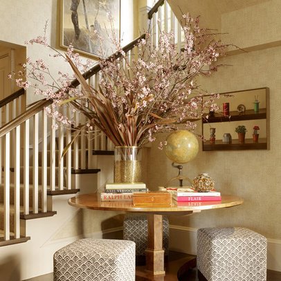 foyer table staircase home design ideas pictures