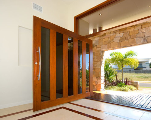 Wide front door houzz for Large front entry doors