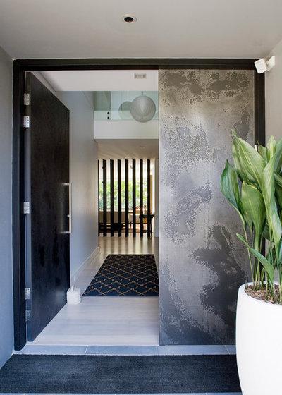 Contemporary Entrance by Denai Kulcsar Interiors
