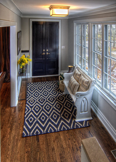 Traditional Entry by Kate Marker Interiors