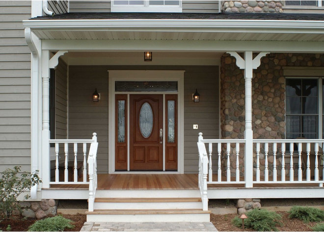 Farmhouse Entry by Thelen Total Construction