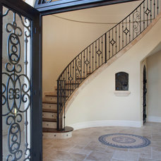 Mediterranean Entry by Jorge Ulibarri Custom Homes