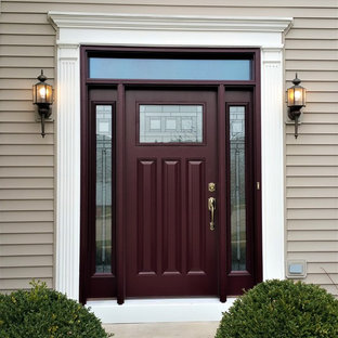 75 Most Popular Craftsman Entryway With A Red Front Door Design