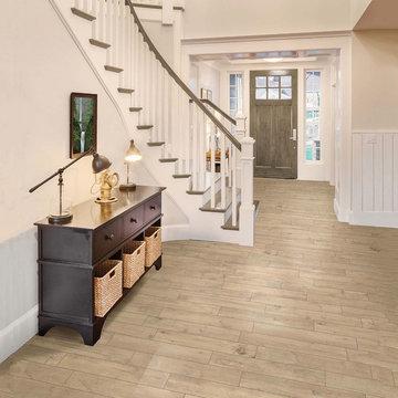 Vintage Cream Wood-like Porcelain Floor Tiles