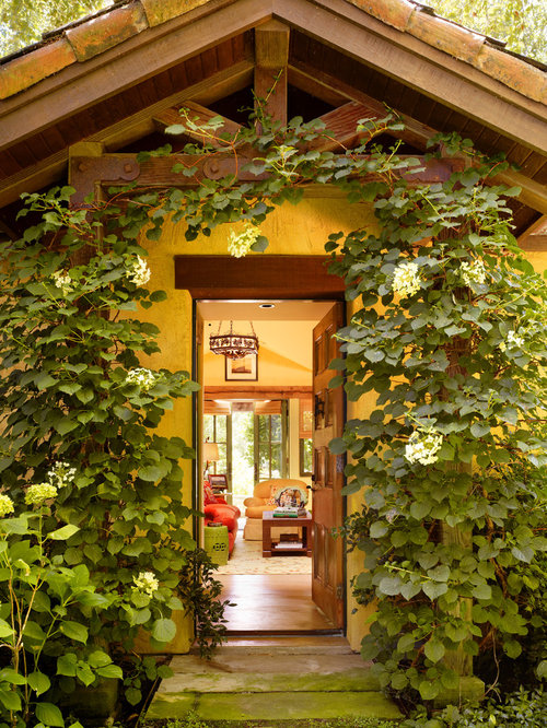 Post And Beam Front Entry Houzz