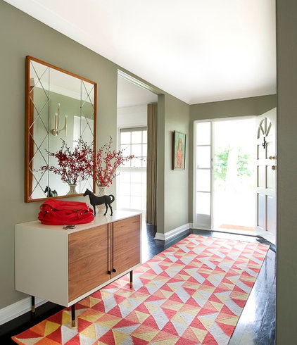 Transitional Entry by Brett Mickan Interior Design
