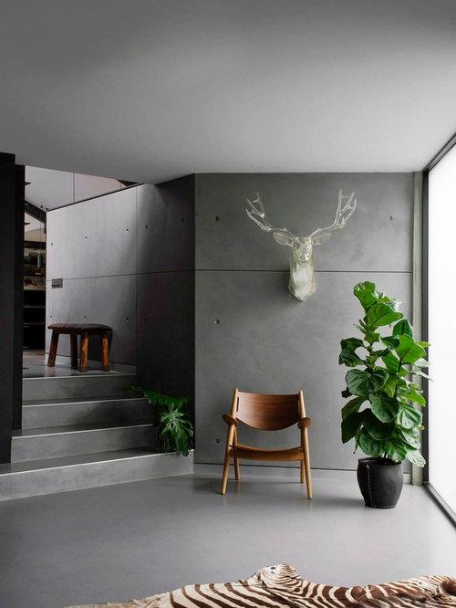 entr e industrielle de taille moyenne photos et id es d co d 39 entr es de maison ou d 39 appartement. Black Bedroom Furniture Sets. Home Design Ideas