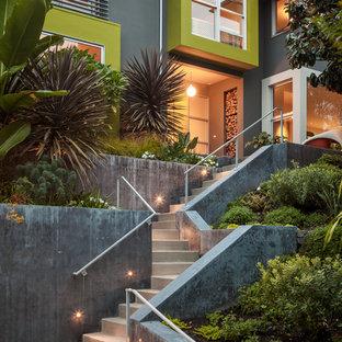 Moderne Haustür mit Betonboden in San Francisco