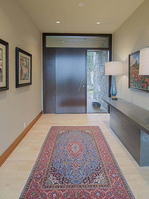 Trendy Entryway Photo In Portland With Beige Walls