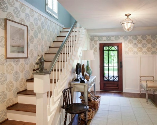 Entry Foyer Wallpaper : Foyer wallpaper houzz