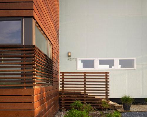 Wood Slat Exterior Home Design Ideas Pictures Remodel