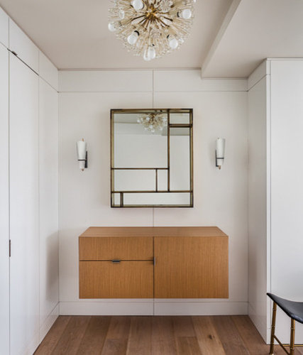 Small Foyer Dimensions : Small midcentury foyer design ideas remodels photos