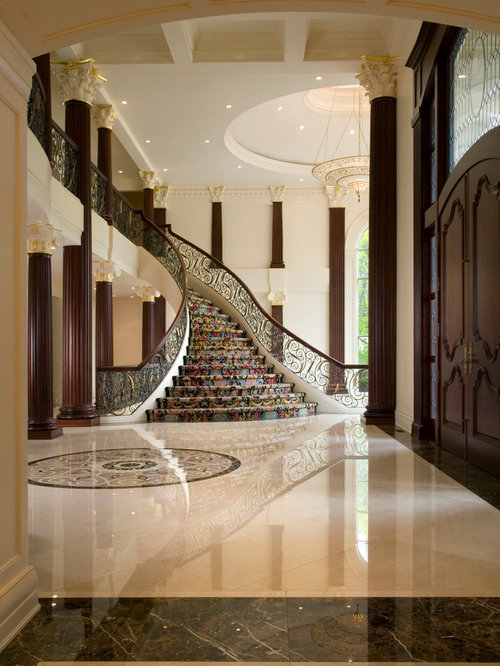 Marble entry home design ideas pictures remodel and decor