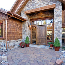 Traditional Entry by Warner's Landscape Company