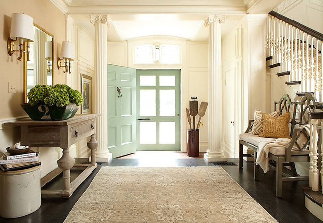 Traditional Entry by Hudson Interior Design