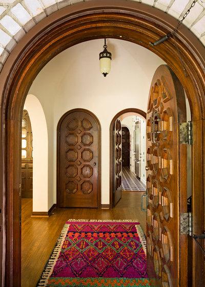 Mediterranean Entry by Jessica Helgerson Interior Design