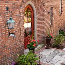 Front door for brick house