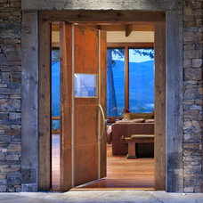 Rustic Entry by Envi Interior Design Studio