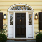 Exterior Arch Portico Front Entry Traditional Entry