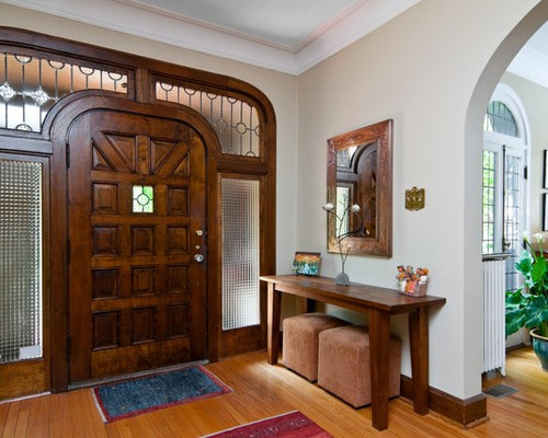 Inspiration For A Timeless Entryway Remodel In Other With A Dark Wood Front  Door