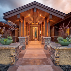 Rustic Entry by Douglas Knight Construction
