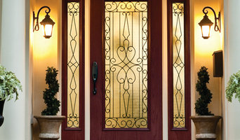 Wrought Iron Glass Front Entry Doors