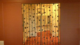 Wrought iron grape vine gates