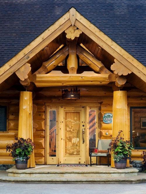 Log Cabin Style Front Door | Houzz