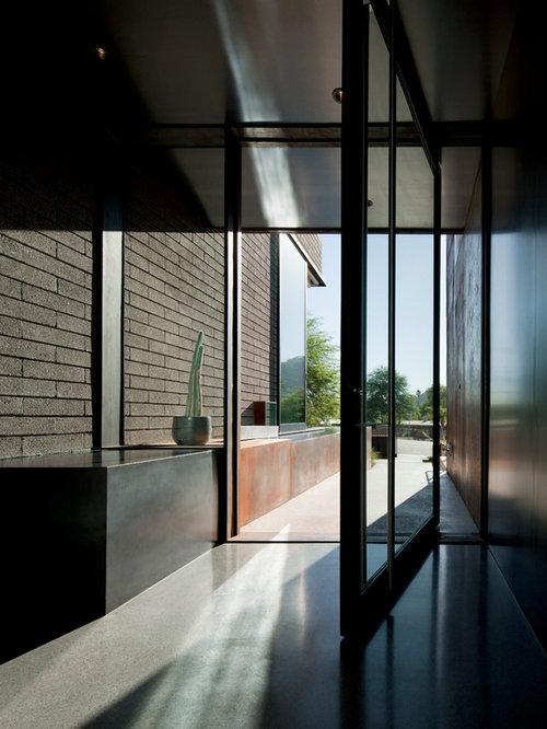 entr e moderne avec sol en terrazzo photos et id es d co d 39 entr es de maison ou d 39 appartement. Black Bedroom Furniture Sets. Home Design Ideas