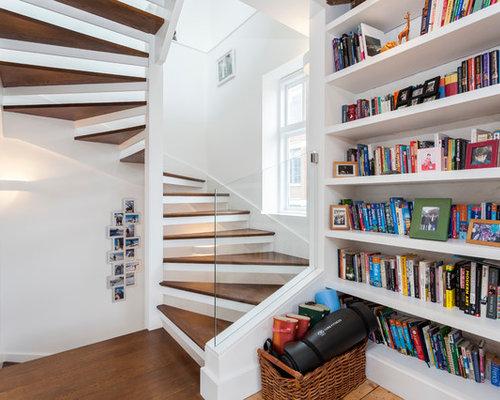 Foton och inredningsidéer för moderna trappor i Madrid : trappa funkis : Trappa