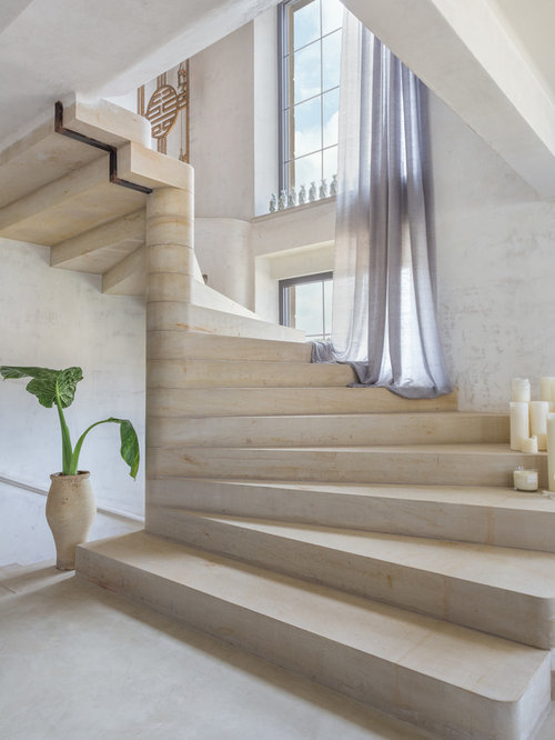 Fotos de escaleras dise os de escaleras de estilo de - Modelos de escaleras de interiores de casas ...