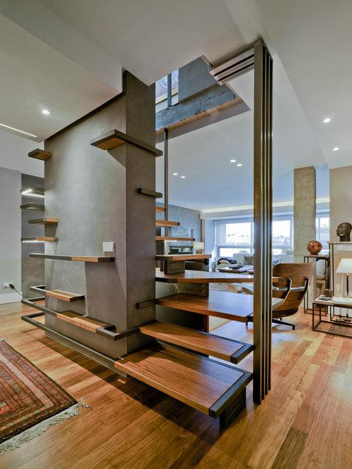 modelo de escalera de caracol minimalista grande sin con escalones de