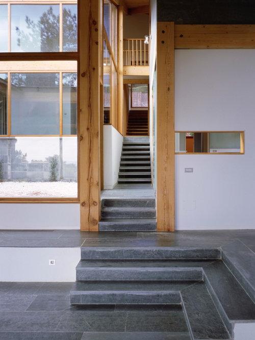 Fotos de escaleras dise os de escaleras con contrahuellas con baldosas y o azulejos - Baldosas para escaleras ...