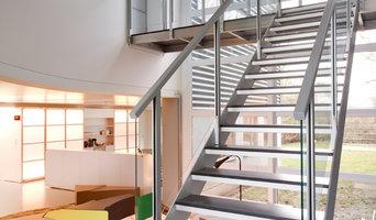 Escaleras de diseño -  aluminio y vidrio