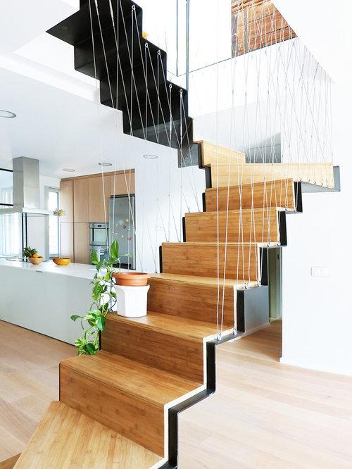 Fotos de escaleras dise os de escaleras contempor neas - Modelos de escaleras de madera ...