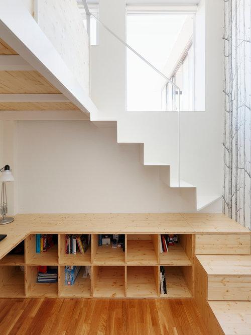 Amazing Modelo De Escalera En L, Nórdica, De Tamaño Medio, Con Escalones De Madera