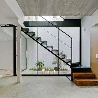 Photos et idées déco d\'escaliers modernes avec des marches en métal