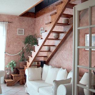 Cette image montre un escalier méditerranéen.