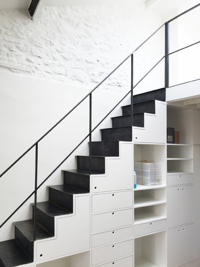 29 ideen f r stauraum unter der treppe. Black Bedroom Furniture Sets. Home Design Ideas