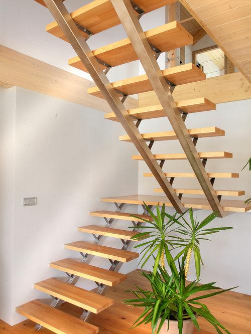 photos et id es d co d 39 escaliers campagne en u. Black Bedroom Furniture Sets. Home Design Ideas